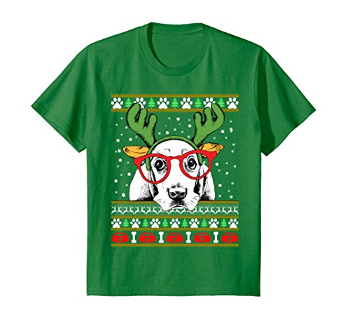Kids Basset Hound Nerd Glasses Ugly Christmas Sweater Funny T-Shi 10 Kelly - Glasses Girl Ugly