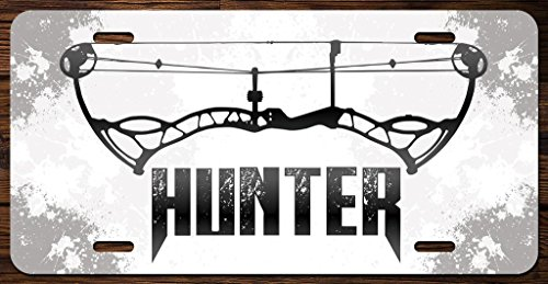 KCD Bow Hunter Vanity Front License Plate Tag Printed Full Color (Bow Vanity)