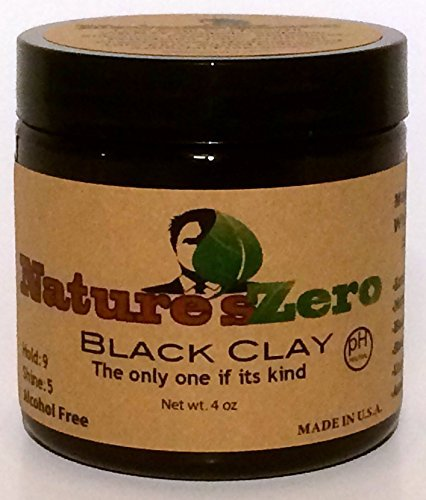 NATURE'S ZERO All-Natural, Handcrafted 4-Ounce Black Clay NATURE' S ZERO All-Natural