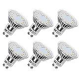 LE GU10 LED Bulbs, 50W Halogen Bulbs Equivalent, 3W, 350lm, 120° Beam Angle, 2700K Warm White, MR16, LED Light Bulbs, Pack of 6 Units