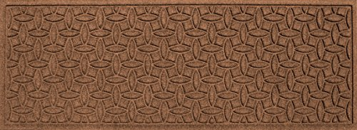 Runner Floor Mat - Bungalow Flooring Waterhog Indoor and Outdoor Runner Rug, Ellipse Collection, Skid Resistant, Catches Water and Debris, Easy to Clean, 22-Inches by 60-Inches, Ridged Abstract Design, Dark Brown