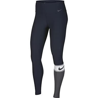 bd0f98861ae28 Amazon.com: Nike Power Women's Training Tights (Obsidian/White/Black ...
