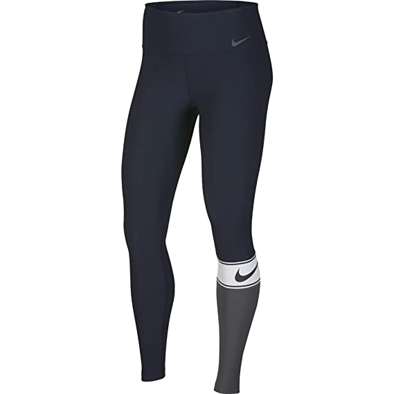 02a5bc102a269e Amazon.com: Nike Power Women's Training Tights (Obsidian/White/Black/Dark  Grey, X-Large 28): Shoes