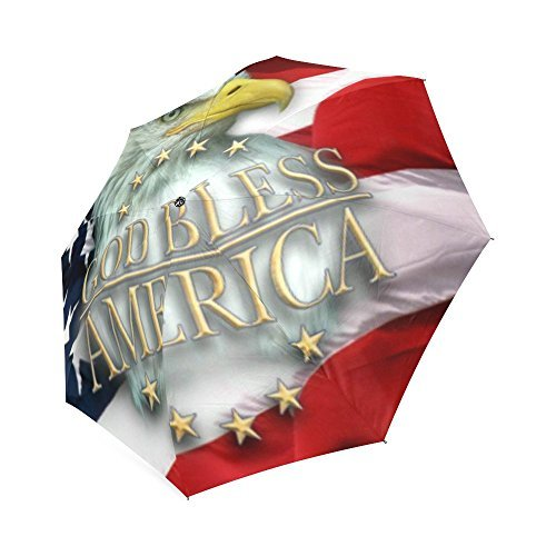 Best Design Auto Open/close Folding Umbrella Eagle american flag Sunshade Foldable Umbrella