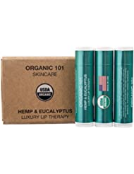 Fuller Healthier Lips, ORGANIC 101 Hemp & Eucalyptus, USDA Certified, All Natural, Luxury Lip Therapy (Hemp & Eucalyptus)