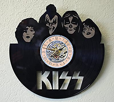 KISS Laser Cut LP Record Wall Clock FREE SHIPPING