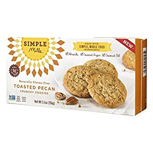 Simple Mills - Ready-to-eat Crunchy Cookies - Toasted Pecan - 425 Oz Gluten Free Grain Free Paleo 1 Pack by Simple Mills