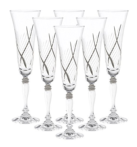 (Glazze Crystal RMC-081-PL Champagne Drinking Glasses, 10
