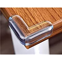 CHRONEX High Resistant Adhesive Gel Tables, Furniture and Sharp Corners Baby Proofing Corner Protectors (Clear) - Pack of 4