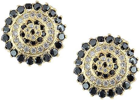 Gold Tone Indian Bollywood Ethnic American Diamond Traditional Stud Earrings Jewellery for Girls / Women