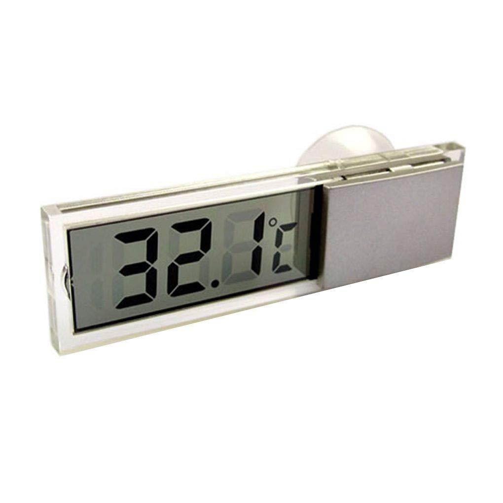 Plzlm Mini thermom/ètre Celsius Fahrenheit LCD Temp/ératures m/ètre num/érique Ventouse pour Les Soins de sant/é Car Int/érieur Ext/érieur