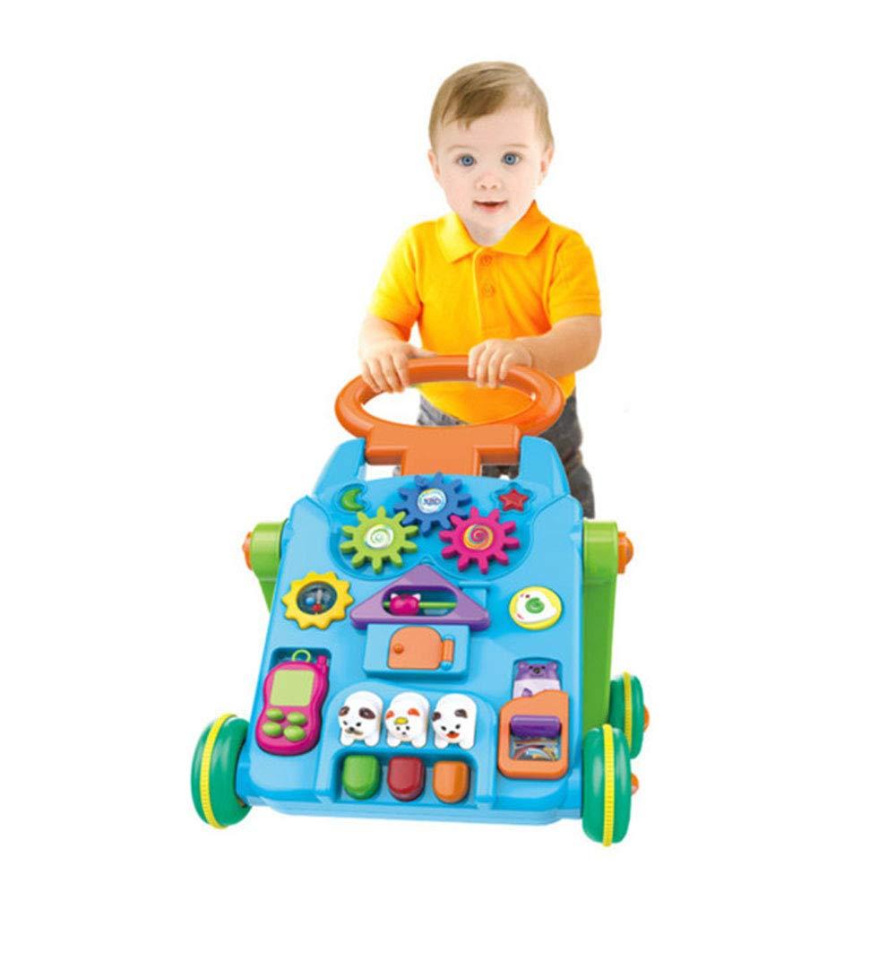HWQ Bebé Walker Trolley Juguetes, Multi-Funcional Rompecabezas ...