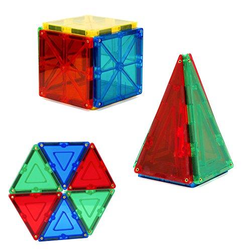 Alek...Shop Educational Construction Toys Magnetic Building Kids 60Piece Tiles Toy Set w/ Carrying Case Multicolor by Alek...Shop (Image #1)