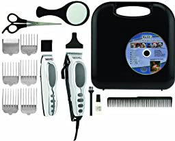 Wahl 9284 Pet-pro Combo Kit 16 Piece Pet Grooming Kit - Deluxe Series, Chrome/white