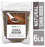 Healthworks Chia Seeds Raw (96 Ounces / 6 Pounds) | Pesticide-Free, Premium & All-Natural | Contains Omega 3, Fiber & Protein | Great with Shakes, Smoothies & Oatmeal