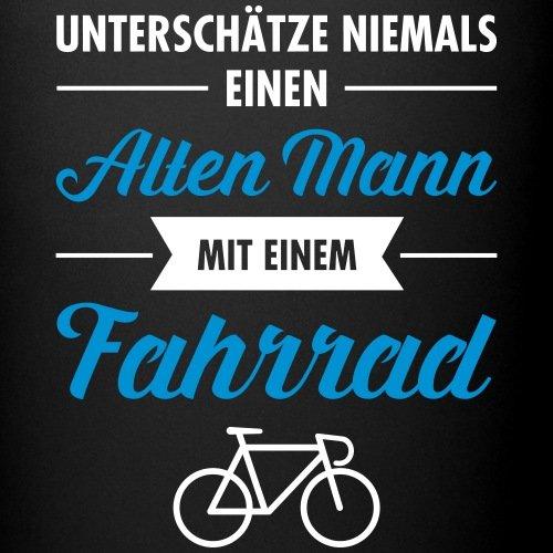 Amazon De Spreadshirt Alter Mann Mit Fahrrad Lustiger Spruch Tasse