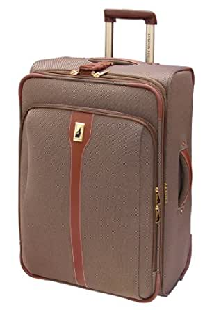 London Fog Luggage Oxford II 25 Inch Upright Suiter, Tan, One Size