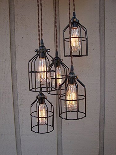 Metal Bird Cage String Lights : Newhouse Lighting Metal Lamp Guard for Pendant String Lights and Vintage Lamp Holders ...