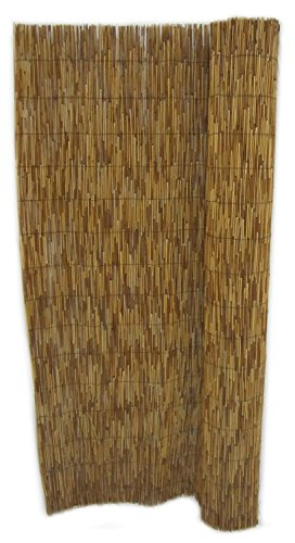 - FOREVER BAMBOO Reed Fencing for Garden and Backyard Landscape, Coffee, 6' H X 16' L (2-Pack)
