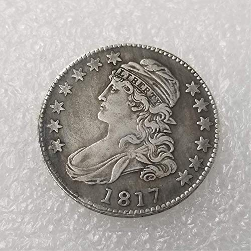 - WuTing Best Morgan US Dollars-(1812-1836) USA 50 Cents Old Coin Collecting-USA Old Original Pre Morgan Dollar Great American Coin 1817
