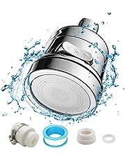 Uni-Fine Keukenkraankop Waterbesparende 3 versnellingen verstelbaar, 360 ° draaibaar ABS kunststof kraan kraan beluchter, spatwaterdicht kraan mondstuk filter voor badkamer aanrecht sproeikraan