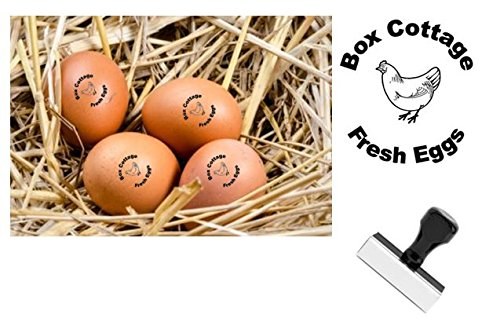 Personalized Rubber Egg Stamp - 12mm impression size (HEN)