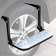 ASMSW Sports Tire Ste Folding Steel Wheel Step p Ladder for Car