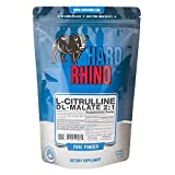 Hard Rhino L-Citrulline DL-Malate 2:1 Powder, 500 Grams (1.1 Lbs), Unflavored, Lab-Tested, Scoop Included For Sale