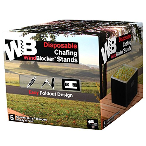 The WindBlocker Disposable Chafing Stand (20 Disposable/Reusable