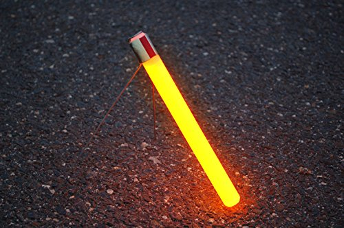 """Cyalume Industrial Grade SnapLight Flare Alternative Chemical Light Sticks with Bipod Stand – Non-Flammable, Waterproof Light Stick is a Safer Alternative to Pyrotechnic Flares, Provides 2 Hours of Bright Light – Red, 10"""" Long (Pack of 10) by Cyalume (Image #4)"""