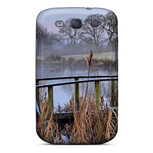 For SamSung Note 4 Case Cover Protective With Look - Bridge Out Of Order On A Misty Pond