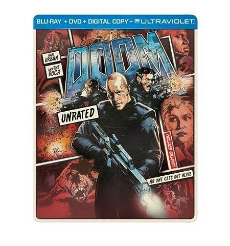 Doom (Steelbook) (Blu-ray + DVD + Digital Copy + UltraViolet) by Universal Studios by Andrzej (Universal Studios Steelbook)