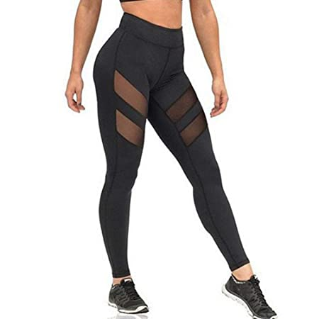 Zhongsufei Medias de Control Pantalones de Yoga, Pantalones ...