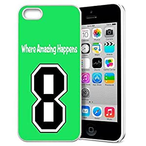 GXFC Case Unique Design Basketball Sportsman Uniform Where Amazing Happens 8 Pattern HD Durable Hard Plastic Case Cover for iphone 5/5s