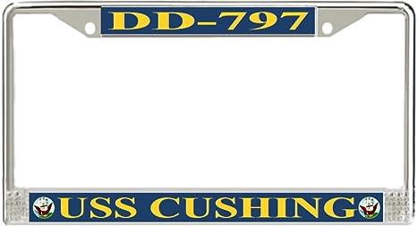 MilitaryBest USS Cushing DD 797 License Plate Frame