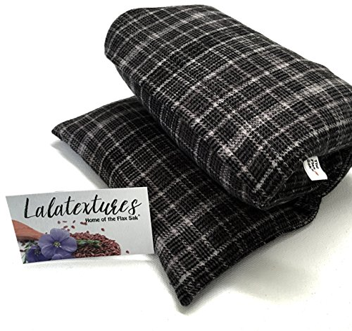 extra-large-11-x-21-microwave-heating-pad-flax-unscented-grey-plaid-the-flax-sak-hot-cold-pack-with-