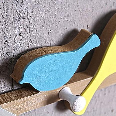CAOLATOR Crochet Mural en Forme d'Oiseau, Patère Murale, pour Manteaux, Chapeaux, Sacs Décoration de tenture de Porte Porche Décoration Murale (48 * 9cm)