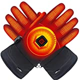 GLOBAL VASION Electric Heated Gloves with Rechargeable Batteries,Waterproof & Thermal Gloves with Touch Screen Sensitivity for Outdoor Activities and Frigid Temperatures