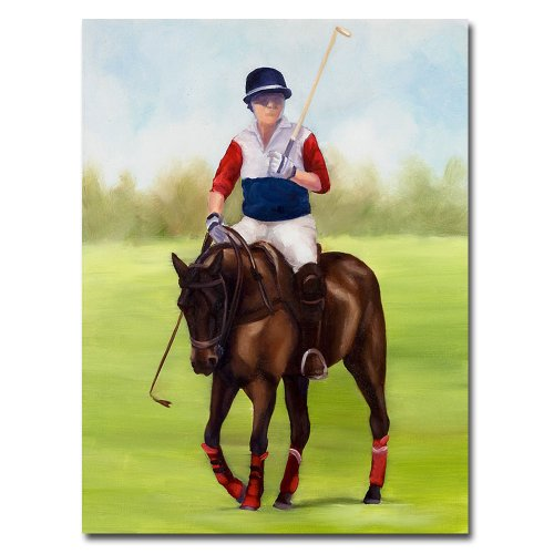 Michelle Moate Horse - Trademark Fine Art Horse of Sport VIII by Michelle Moate Canvas Wall Art, 14 by 19-Inch