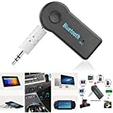 JahyShow Bluetooth Receiver, Portable 3.5mm Streaming Car A2DP Wireless Bluetooth AUX Audio Music Receiver Adapter with Microphone for iPhone Samsung Android Cell Phones
