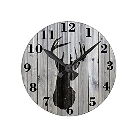 Black /& White Hipster Moustache Wall Clock