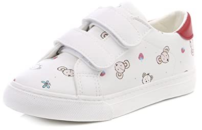 InStar Kids Comfy Hook and Loop Canvas Sneakers Shoes