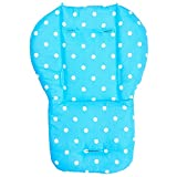 Kids Baby Dots Cotton Cartoon Double Sided Available Stroller Seat Dining Chair Pad Cushion Blue