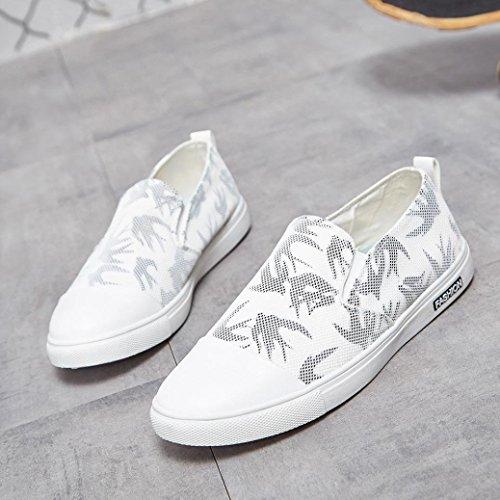 Bianca Uomo ASHOP Sneakers Scarpe Casual Running Gym Sportive da Basket Scarpe Corsa Scarpe da Shoes Basse da Fitness Ginnastica R4wU4q