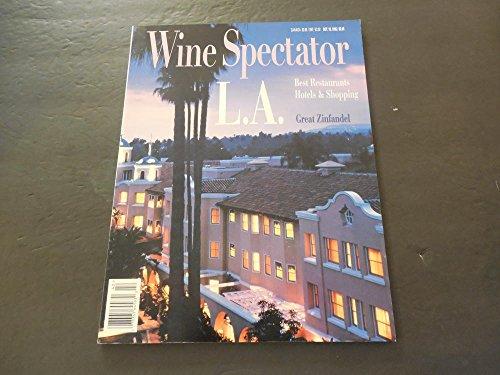 Wine Spectator Oct 15 1995 LA Restaurants, Hotels, Shopping, Zinfandel