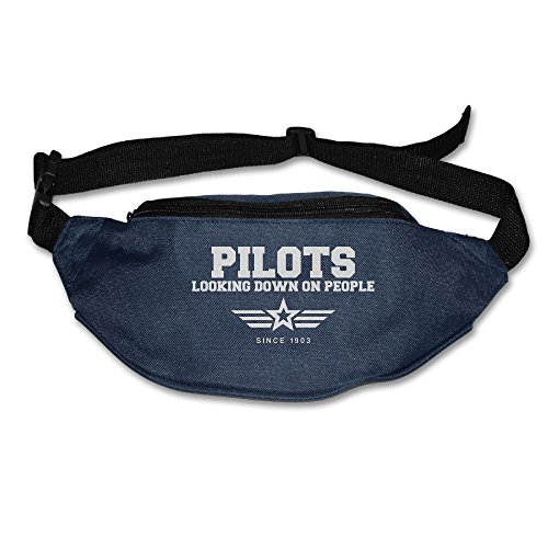 Ada Kitto Pilots Looking Down On People Since 1903 Mens&Womens Sport Style Travel Waist Bag For Running And Cycling Navy One Size by Ada Kitto