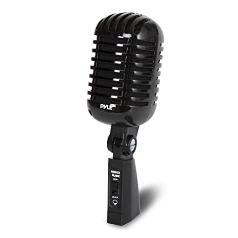 9d6555a16 Classic Retro Dynamic Vocal Microphone - Old Vintage Style Unidirectional  Cardioid Mic with XLR Cable -