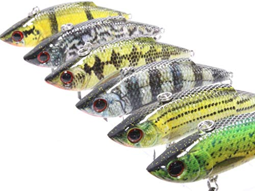 ait Long Casting RealSkin Color Pattern for Bass Fishing Bass Lure Fishing Lure with Tackle Box HL536KB ()