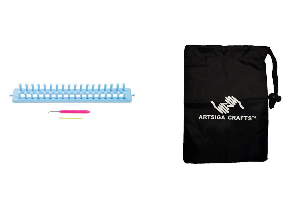 Darice Knitting Loom Rectangle 1 Pc 14in. (3 Pack) 30022870 Bundle with 1 Artsiga Crafts Small Bag