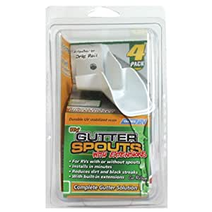 Camco 42134 Gutter Spouts w/ Extensions - Pack of 4